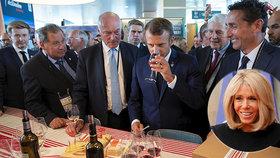 """""""Víno si dávám k obědu i k večeři,"""" přiznal Macron. Brigitte má ráda bílé s ledem"""
