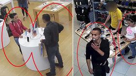 Ona upoutala pozornost, on kradl. Policisté hledají dvojici, která opakovaně kradla na Vinohradech