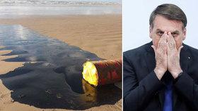 """Ropa znečistila přes sto pláží. """"Má kriminální původ,"""" tvrdí prezident Brazílie"""