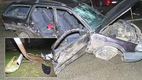 Bez řidičáku sedl za volant: Naboural dvě auta, čtyři lidé skončili v nemocnici