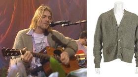 Legendární svetr Kurta Cobaina (†27) jde do aukce. Zájemce musí zaplatit tučnou sumu