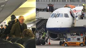 Aktivisté narušili provoz letiště. Jeden z nich vyšplhal i na trup letadla
