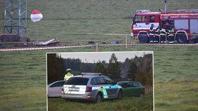 Na Bruntálsku se zřítilo letadlo! Zahynul jeden člověk