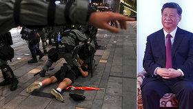 """""""Vyhrožování přinese jen rozdrcená těla."""" Čínský prezident tvrdě hrozí demonstrantům z Hongkongu"""