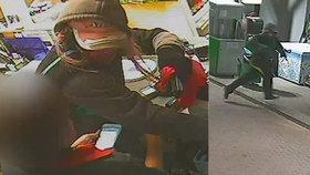 Další přepadená benzínka v Praze! Maskovaný zloděj vytáhl na obsluhu pistoli