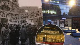 """""""Nebyl čas vnímat strach."""" Národní divadlo připomíná sametovou revoluci venkovní výstavou"""