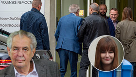 Zeman v nemocnici: Dcera Kateřina se kvůli jeho zdraví vrátila domů na několik měsíců
