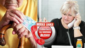 Ptejte se na důchod, exekuce i penzijní spoření! Odborníci znovu na telefonu Blesku