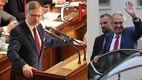 """Fiala o frašce s ČT i """"neodpovědnému rozpočtu Babiše"""". Zemanovi přeje pevné zdraví"""