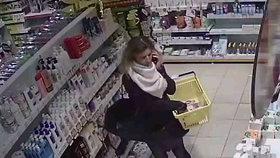 Velká krémová krádež! Mazaná zlodějka sebrala v Letňanech kosmetiku za deset tisíc, poznáte ji?