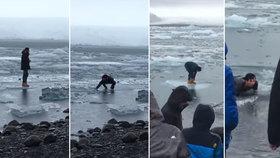 """""""Nevstupujte na led."""" Turisté na Islandu ignorují cedule, často končí v ledové vodě"""
