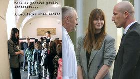 Kateřina Zemanová si střihla roli průvodkyně. Po Hradě provedla malé školáky