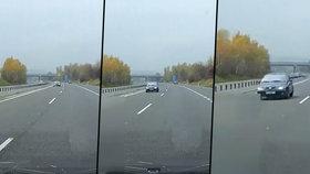 Opilý mladý řidič vjel na dálnici D3 do protisměru!  Než ho našli, dvakrát boural