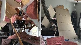 Sestry seděly u televize, když na dům spadl strom. Přežily jen díky ledničce