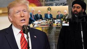 Trump: Šéf ISIS Bagdádí zemřel jako pes. Vzal s sebou tři děti, mrtvé jsou i jeho ženy