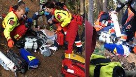 Dramatický boj o život: Motorkáři se v lese zastavilo srdce, zachránili ho kamarádi