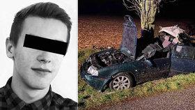 Tragická nehoda opilého řidiče (24): Zemřel jeho spolujezdec Karel (†22)