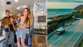 Mladý pár prodal všechen majetek: Teď i s miminkem žijí v autobuse