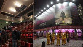 V divadle se při představení zřítil strop. Hasiči v Londýně evakuovali 1100 lidí