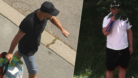Zloděj vykradl byt po hromosvodu: Soused vyfotil dva muže, kteří policii mohou pomoci