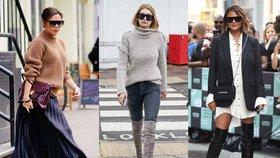 Jak nosí slavné ženy kozačky? Víme, kde koupit podobné kousky!