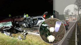 Čtyři mrtví na Znojemsku: Muž viděl, jak jeho láska umírá! V autě jel i syn (4 měs.)