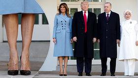 "Otužilá Melania Trumpová vyrazila do mrazu s holýma nohama. Prezidenta pozlobil ""toaleťák"""