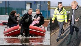 """""""Kde jste jako byl?!"""" Premiér to schytal od lidí ze zatopených vesnic. Anglii dál sužují deště"""