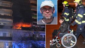 Štiplavý dým, dušení a hodiny na balkoně! Vozíčkář Roman (54) popsal ohnivé peklo na Černém Mostě