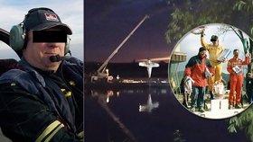 Zavadil o dráty a skončil v Labi: V letadle zemřel Petr Bartášek, mistr republiky v autokrosu