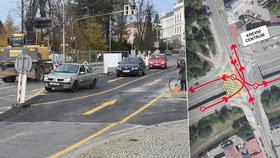 Hlavolam Rubikovy křižovatky ve Frýdku-Místku: Oprava míchá dopravou, k magistrátu nedojedete