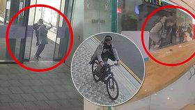 Kradl v rušném obchodním centru: Pražští policisté hledají zloděje kol a koloběžky