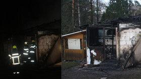 Požár chatky nepřežila babička (†73) ani její pejsek: Místní lidé jsou v šoku