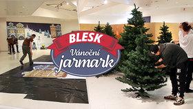 Přípravy v plném proudu! Vánoční jarmark Blesku už se staví, v Kotvě se otevře v pátek