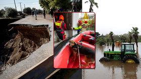 Bouře ve Francii, Itálii a v Řecku za sebou zanechaly spoušť a zabíjely: 9 mrtvých