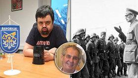 """""""Spratek"""" Novotný se nečekaně shodl se Zemanem. Kvůli pomníku píše Putinovi a zmínil pitomce"""