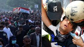 Demonstranti podpálili konzulát, policie tvrdě zasáhla: Protesty v Iráku mají stovky obětí