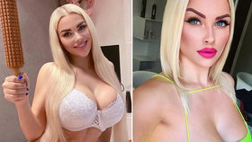 Česká Barbie předvedla, jak vaří: Obléknout se k plotně zapomněla