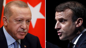 """""""Nejste ve stavu mozkové smrti?"""" Macron to za kritiku schytal od tureckého prezidenta"""