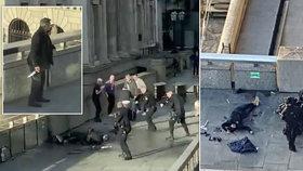 """Útočníka s nožem zpacifikovali v Londýně kolemjdoucí: """"Jsou to skuteční hrdinové"""""""