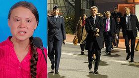 """Stihne """"hysterka"""" Greta klimatický summit? Babiš v Madridu šil kvůli uhlí do Číny"""
