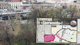 Vrchlického sady čeká proměna: Sherwoodem u hlavního nádraží pojedou tramvaje. Kudy přesně?