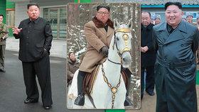 Kim mění styl. Uniformy vyměnil za kabát, na koni cválal s kožešinou kolem krku