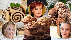 Medovníkové kuličky Báry Mottlové, vánoční muffiny Janů a keksy od Babišové! Upečte podle hvězd