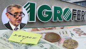 """Agrofert se dál může ucházet o veřejné peníze, úředníci dostali """"notičky"""""""