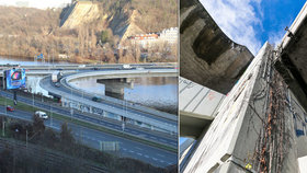 Špatný stav Barrandovského mostu: Oprava je nezbytná, ukázaly testy. Začne letos