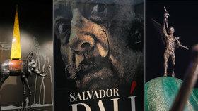Vesmír krále neskutečna v Praze: Začala unikátní výstava Dalího soch