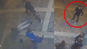 VIDEO: Útočil zákeřně zezadu! Muž na Vinohradech zničehonic knokautoval druhého, hledá ho policie