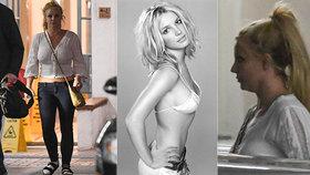 Zanedbaná Britney Spearsová děsí! Někdejší kráska rezignovala i na podprsenku