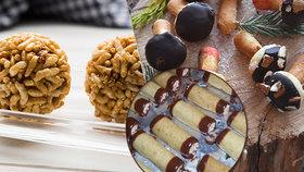 Rychlovky bez pečení: Oříškové hříbečky, burizonové kuličky a arašídové trubičky